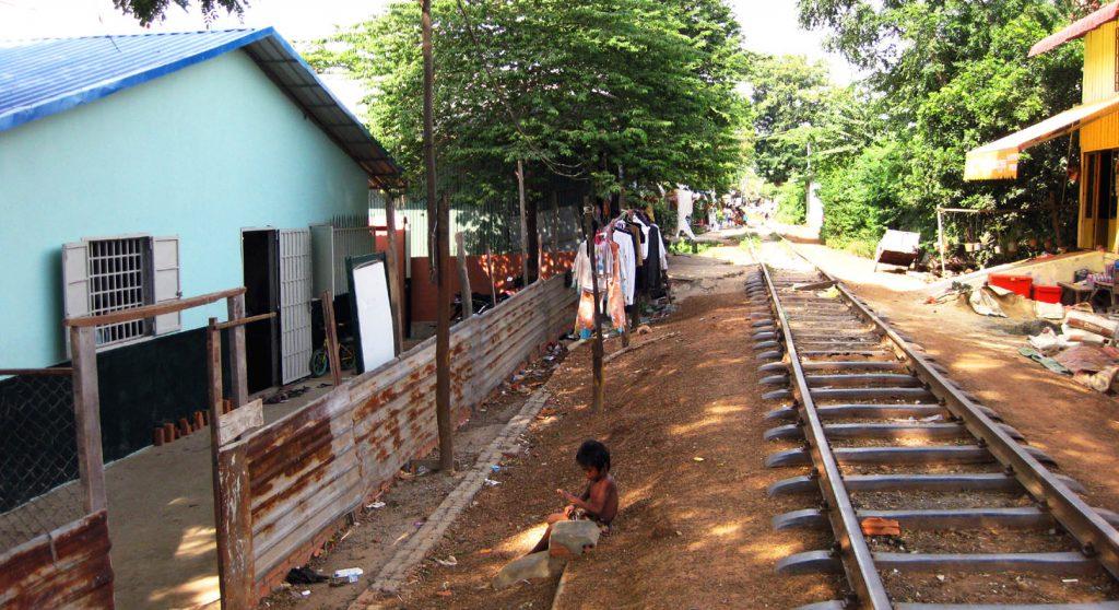 Youth School Building Near Train Tracks